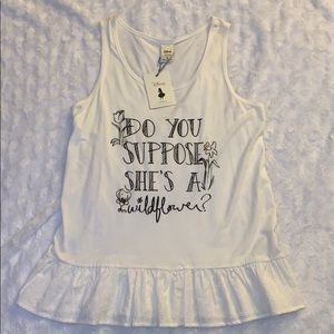 NWT Alice in Wonderland peplum tank